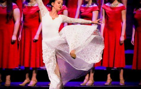 Kaitlyn Garcia dances at the Christmas at Kravis concert.