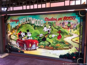 Sign of Mickey and Minnie's Runaway Railway