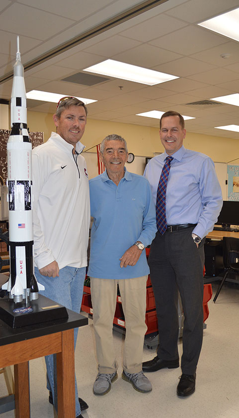 (left to right) Keith Allen, Frank Dimino, and Randy Martin create the engineering program at The King's Academy.