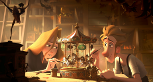 The groundbreaking animation technology used in 'Klaus' makes the two dimensional characters leap off the screen. (Photo Credit: Sergio Pablos Animation Studios, Netflix)