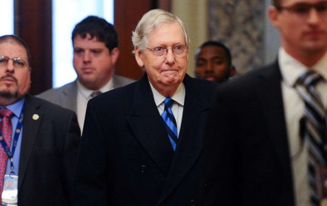 Senate Majority Leader Mitch McConnell arrives at the U.S. Capitol for the Senate impeachment trial of President Donald Trump in Washington, Jan. 30, 2020. Mary F. Calvert. (Photo Credit:impeachment-01-mcconnell-arrival-rtr-jc-200130_hpMain_16x9_992)