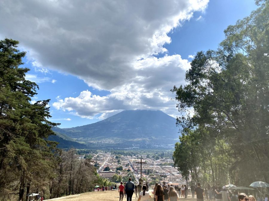 A high point on a hill provided a great view looking over Guatemala City. (Photo Credit: Tyler Cool)