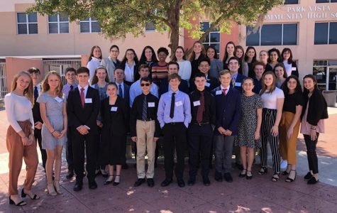 The King's Academy National History Day  County participants at Park Vista High School during County Competitions. (Photo Credit: Mr. Raines, Mrs. Smythe, and Mrs. Berger)