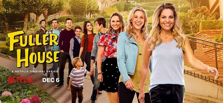 Fuller House – A sequel to the original TV hit Fuller House falls in at #2 on the Top Ten. Photo Credit: Fuller House Wiki-Fandom