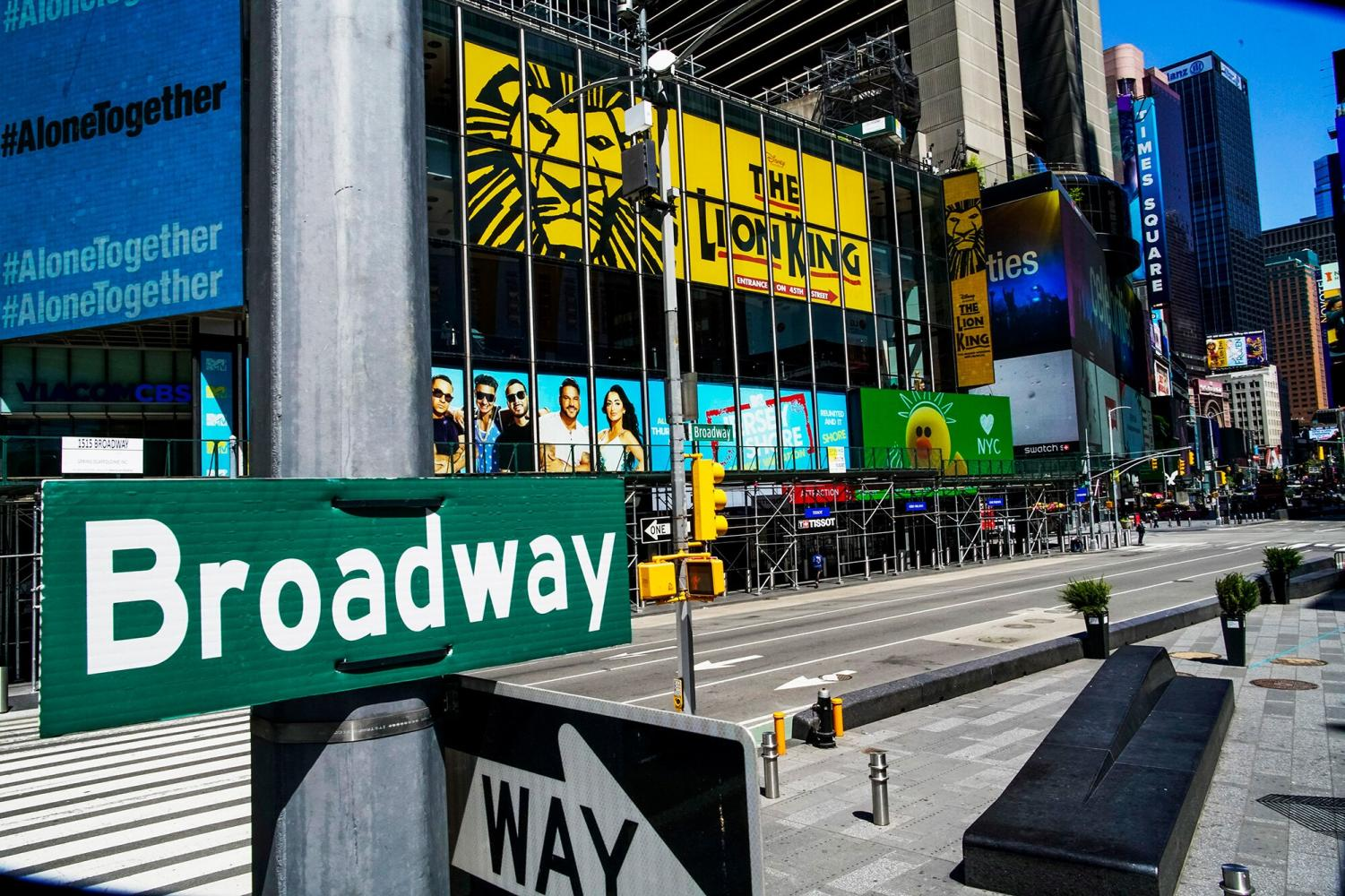 "Broadway is still in ""shut-down"" mode. (Photo Credit: Entertainment Weekly)"